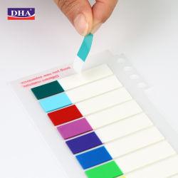접착식 접착식 스티커 및 이동식 페이지 마커 팝업 페이지 PET 플래그 네온 색인 탭