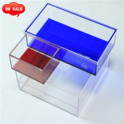 Boîte de bonbons en acrylique, Emballage de cadeau encadré, bijoux Boîte de rangement
