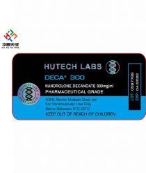 Flacone da 10 ml con Deca Marca Deca Durabolin Nandrolone Decanoate Hutech Labs Etichette e polvere di decanoato Nandrolone