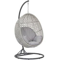 余暇の庭のための屋外のPEの藤の振動卵の椅子