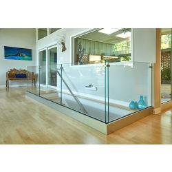 Roestvrijstalen aluminium u-kanaal glazen balkon met tuindecoratie Design modern Glass Terrace Balustrade
