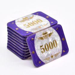 Настраиваемый логотип казино качества контейнера покер казино микросхем стандартной акриловый Poker стружки