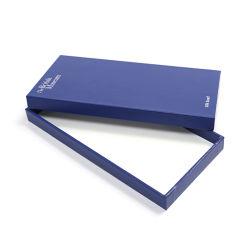 Custom azul oscuro de la lámina de plata, pañuelo de seda Caja de regalo