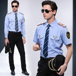 Vestuário de proteção de segurança luz uniforme azul Guarda de segurança uniformes
