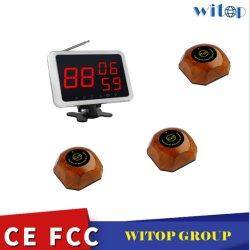Witop 5 PCS mit Ape560 Tischglocke und 1 PC-Empfänger mit Ape1300 Funkrufsystemen Raumrufsystem,