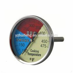 Edelstahl bimetallisches BBQ-Gas-bimetallischer Ofen-Thermometer