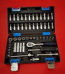 """52pcs Dr 1/4""""Conjunto de herramientas de reparación de la toma de Bits (FY1052B)"""