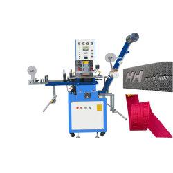 리본 테이프에 새로운 디자인 레이블 로고 상표 돋을새김 기계