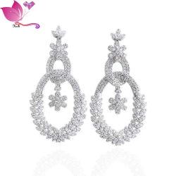 도매 럭셔리 인공 다이아몬드 댕글링 여성 웨딩 보석