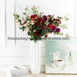 Kunstmatige Wedding Party Decoratie vijf koppen Flannel Rose Flower