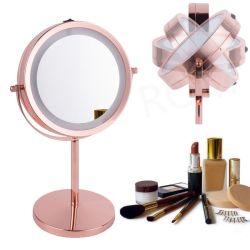 제조업체 메이크업 드레싱 테이블 양면 원형 LED 세면기 메이크업 거울