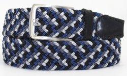 Trenzado casual tela elástica Mens Jeans cinturones con hebillas de pin