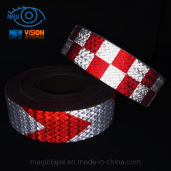 Vermelho e branco a banda decorativa Tiras reflectoras Noite Segurança autocolantes de Aviso