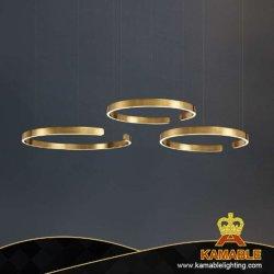 Luxo Simples Anel de entalhe de iluminação da lâmpada pendente de Aço Inoxidável (CL301)