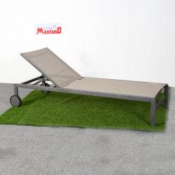 Sun Lounge Piscina Jardim móveis de vime sofá em vime Leisure espreguiçadeira com Rodas