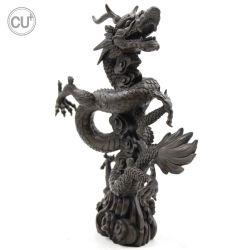 Drago e mouse della scultura Bronze per la decorazione dell'ufficio e della casa