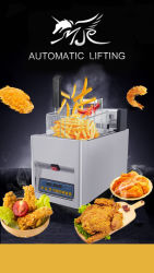 Mijiagao 2020の新製品の揚げられていた鶏の店の電気フライヤーの食糧装置の機械装置の深いAuto-Liftのフライヤーのための商業台所装置圧力フライヤー