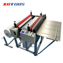 ورق الحماية من التآكل الليزلي فائق الدقة التلقائي بالكامل من مادة PVC آلة قطع الورق العازل للقطع النسيجي