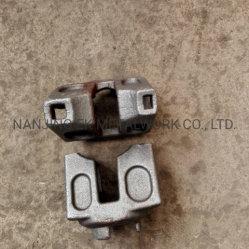 중국 공급 판매를 위한 Ringlock 원장 헤드 Horizantal 끝이 하락에 의하여 위조된 비계 부속품에 의하여 직류 전기를 통했다