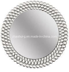 Espelho de parede curva elegante e mobiliário espelhado redondo para decorativos Inicial