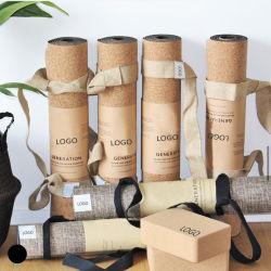 Fabrik Preis Private Label Best Selling Eco Friendly Custom Print Logo-Matte Kork Naturkautschuk Premium Bio Umweltfreundlich Anti Slip Yoga Mats Fitness
