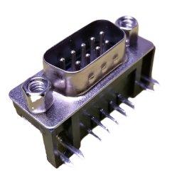 Conector D-SUB 9pin, horquilla de bloqueo, póngase en contacto con latón Material