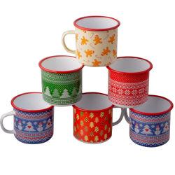 Нержавеющая сталь эмаль обода окрашенные в Rim кружки кофе чашку чая с табличкой пользовательский дизайн подарок поощрения кухонных