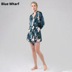 Frauen Großhandel Pyjama Sets Nachtwäsche Sleepwear Lange Knielang Satin Seidenkleid