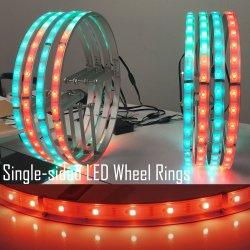 음악 지프 Jk 바퀴 반지 빛에 다중 색깔 변경 LED 차 광 펄스