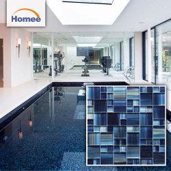 Mosaico dipinto a mano di cristallo di vetro delle mattonelle della piscina dell'azzurro di blu marino
