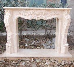 Op maat gemaakte klassieke marmeren beeldhouwkunst Open haard Home Decoratie (SYMF-273)