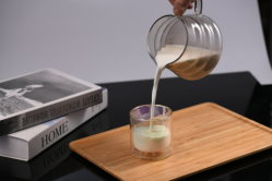 Caja de seguridad resistentes al calor de la lanzadora de vidrio para el jugo de vino de garrafa jarra de agua fría de la leche caliente de café