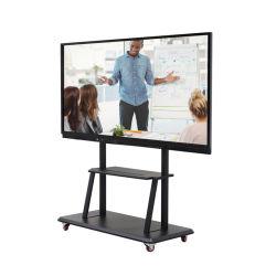 65 75 86 Leitor de anúncios 4K Android Windows OPS I3 I5 I7 Whiteboard Ecrã LCD interactivo Kiosk Interactive Painel LED do ecrã de toque para Educação
