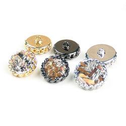 도매 니켈 직물은 황급한 단추를 꿰매는 합금 금속을 덮었다