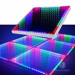 El Equipo de DJ Club boda RGB Panel resistente al agua 3en1 Infinito espejo LED 3D de la pista de baile