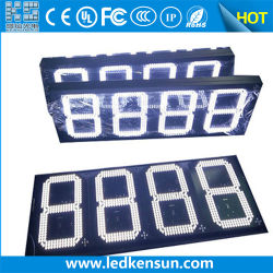 Kundenspezifische Zeichen-Tankstelle-Ölpreis LED-Bildschirmanzeige des Träger-12inches