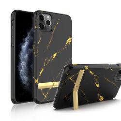 용 골드 메탈 스트립이 있는 범용 워터 페이스트 스마트폰 케이스 iPhone 11 PRO Max