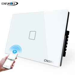 Touch wall con timer di controllo APP US Null e Live Line Interruttore luci elettriche WiFi Smart Switch