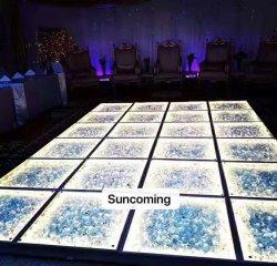 2019 Pista de Baile de boda Flores 3D LED Infinity Mirror pista de baile para la venta