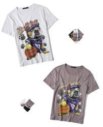 Duidelijk/Lege douane/de Aangepaste Kleding van de Manier/Kleren/Druk/de T-shirts van de het Afgedrukte Witte Katoen van 100%/Bamboe/Mens/van de Mensen van de Polyester