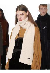 La moda de colores sólidos J&K Series Bufanda de punto de lana