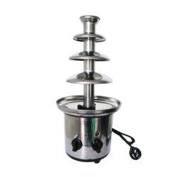 110V/60Hz 220V/50Hz 4 camadas de aço inoxidável fondue de chocolate Fountain