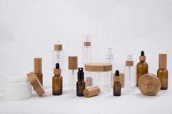 Le bambou Cosmetic Packaging défini pour le commerce de gros de soin cosmétique Jar et bouteille