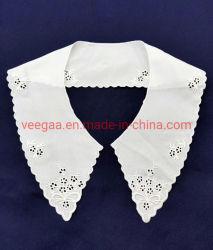 Accesorios de ropa de dama cuello escote Trim Collar de organza blanco