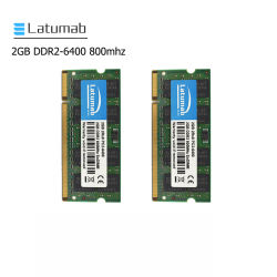 Latumab Laptop-Notizbuch RAM sek-Chip 2GB RAM DDR2 800MHz PC2-6400 204pin Computerspeicher So-DIMM