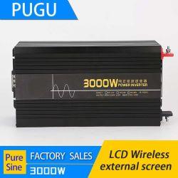 Onde sinusoïdale pure 3000W de l'onduleur onduleur 12V/24V à 120V