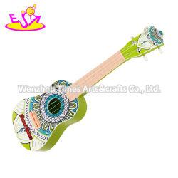 2020 высококачественный зеленый детский деревянная игрушка гитара для обучения в раннем возрасте W07h052