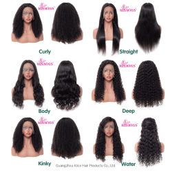 10Un brésilien Lace Wig noir naturel vierge sèche Full Lace Wig perruque de cheveux humains