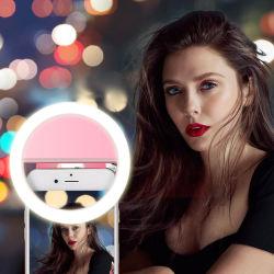 واقعية 200 مللي أمبير/ساعة قابلة لإعادة الشحن 36 LED Rk12 صورة ذاتية الإضاءة بتقنية التصوير الإضاءة عند كل من De Luz Selfie ملحقات الهاتف المحمول الأخرى