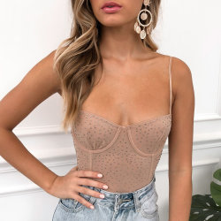 2019 Mujeres Sexy' One-Piece Bodysuit Bustiers ML7313